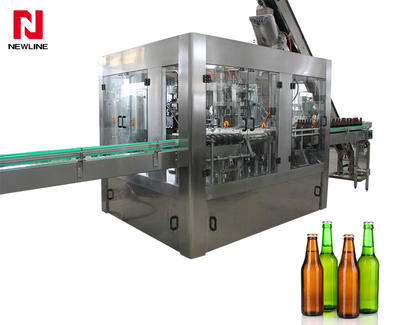 2000-3000bph Glass Bottle  Filling Machine Carbonated Soft Drink Beer Filling Machine