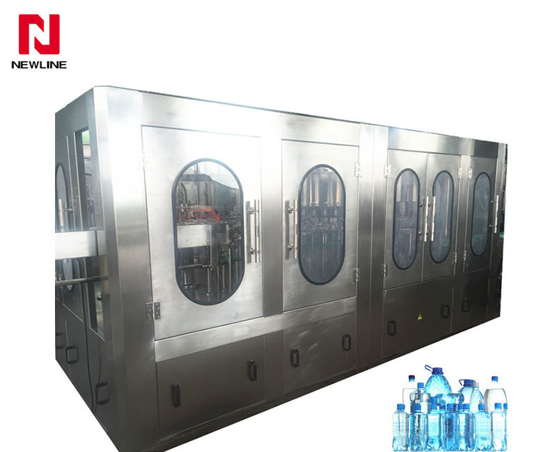 9000-10000bph Automatic Bottle Filling Machine 3 In 1 Water Filling Machine
