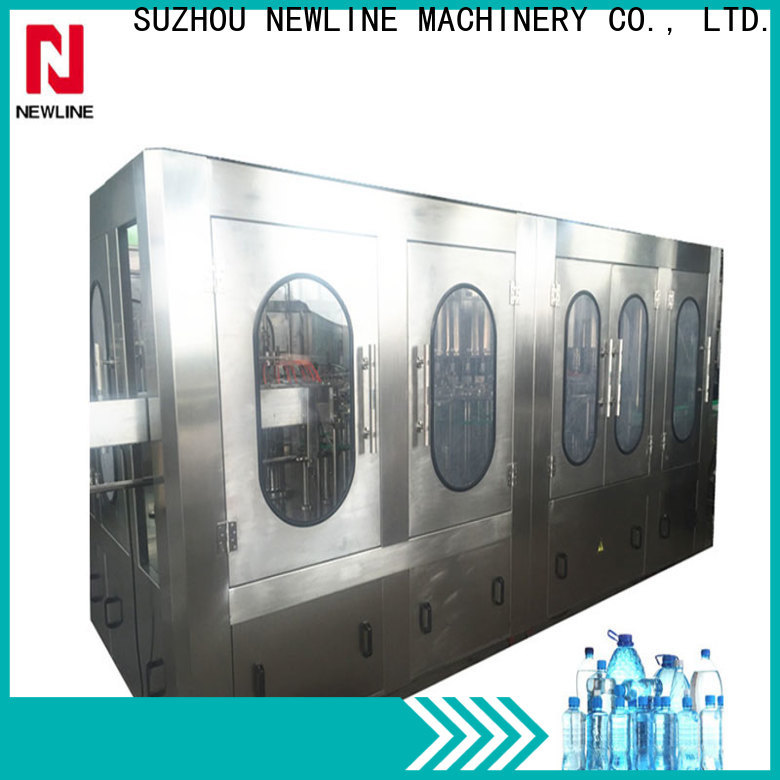 NEWLINE Top drinking water bottle filling machine Supply for packaging