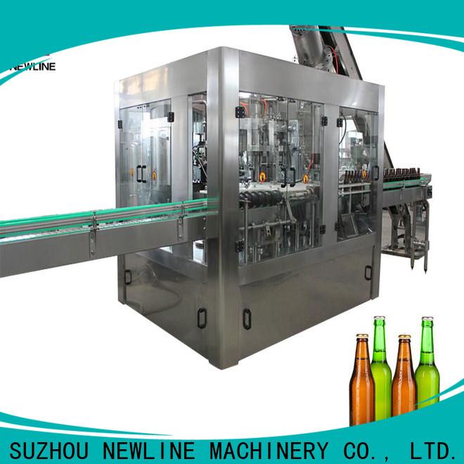 Newline glass bottle soda filling machine company on sale