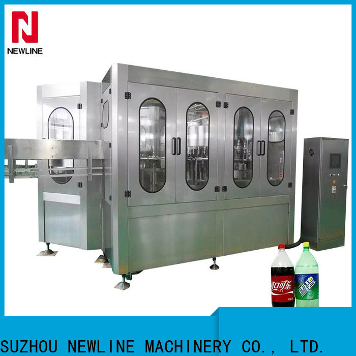 NEWLINE Top glass bottle soda filling machine manufacturers for packaging