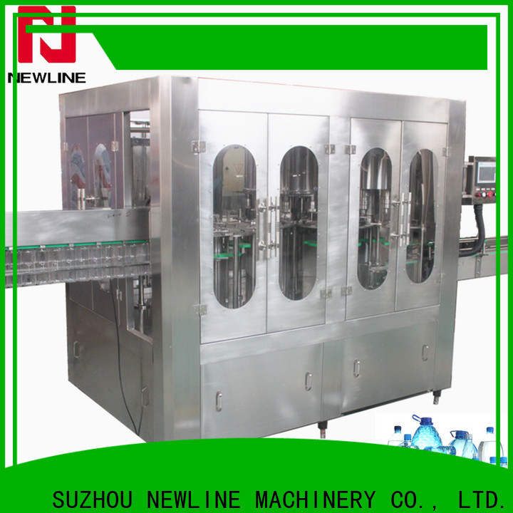 NEWLINE Top bottle filling and capping machine company for promotion